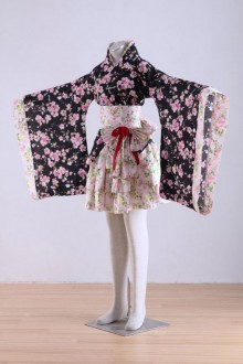 Japan Kawaii Lolita Sakura Cosplay Kimono Dress Costume Set
