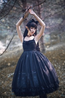 Dancing With The God Of Death Gothic Lolita JSK Dress