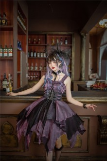 Seven Sin Series Irregular Hem Gothic Lolita JSK Dress