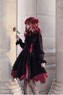 Lamer'S Column Irregular Gothic Lolita JSK Dress