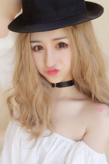 Centre Parting Long Curly Hair Flax White Lolita Gold Wig