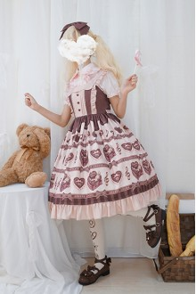 Chocolate Love Song Sweet Lolita JSK Dress