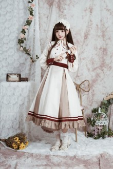 "Original New Genuine ""Letter From Afar"" Retro Long Sleeve Sweet Lolita Dress"