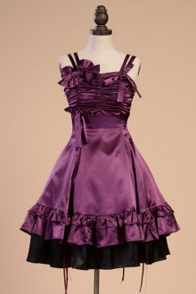 Original Vintage Purple French Palace Ruched Classic Lolita Dress
