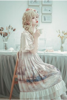 "Original Design ""Oil Painting"" Sweet Lolita OP Dress"