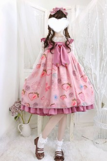 "Original Genuine ""Firework Strawberry"" Sweet Lolita JSK Dress 2 Colors"