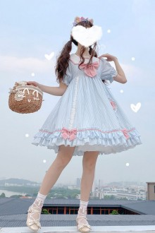 Original Genuine Navy Collar Sweet Lolita Dress 2 Colors