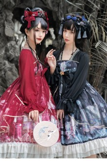 """Original Design """"Shadow Under The Moon"""" Chinese Style Classic Lolita OP Dress 3 Colors"""