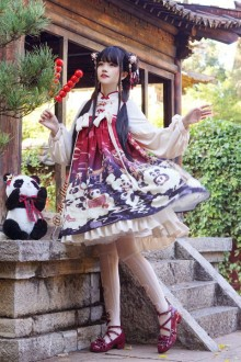 Original Design <New Year> Chinese Style Sweet Lolita OP Dress 2 Colors