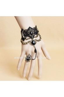 Gothic Style Palace Vintage Gems Pearls Lace Lolita Bracelet