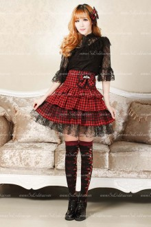 Punk High Waist Tutu with Bowknot Lolita Skirt