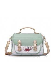 Lolita Vintage Beautifully Printed Green Postman Middle Bags