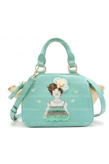 Lolita Lovely Lady Mint Green Embroidery Bag