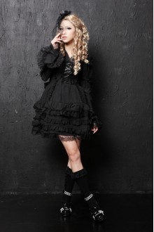 Lace Ribbon Flounced GLP Lolita Dresses