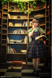 Library Of College Style Twill Strap HMHM Lolita Dresses