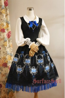 Dancing Roses Original Embroidery Surface Spell Gothic Lolita Dress