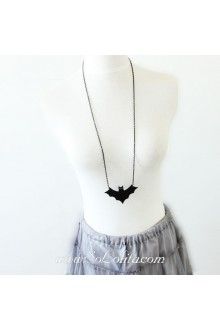 Halloween Minimalistic Stylish Wild Black Bat Lolita Sweater Chain