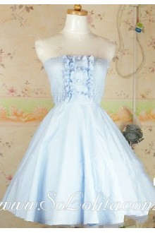 Light Blue Royal Court Barbie Doll Sweet Lolita Dream Tee Dress