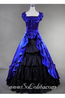 Royal Blue Gorgerous Gothic Victorian Lolita Dress