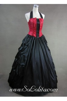 Halter Back Bandage Ruffled Skirt Aristocrat Gothic Victorian Lolita Dress