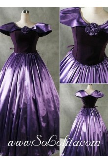 Gothic Victorian Patrician Purple Luxuriant Lolita Dress