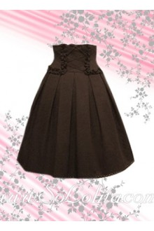 Brown Ruffle Corset Fashion Lolita Skirt